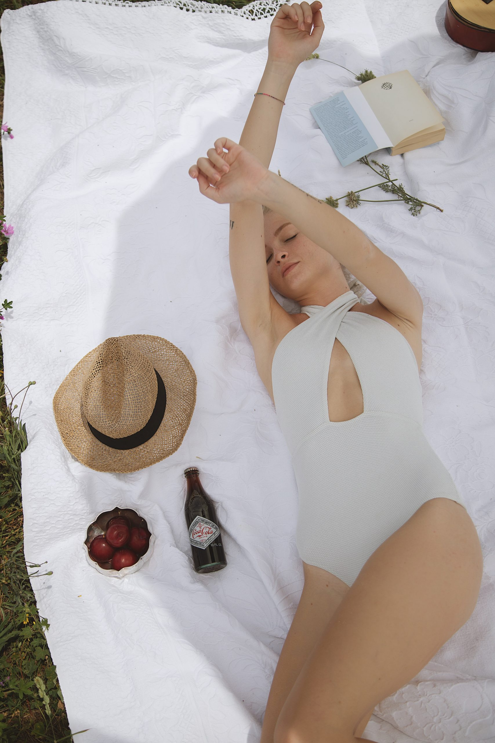 Jellylight Maillot in White Silver