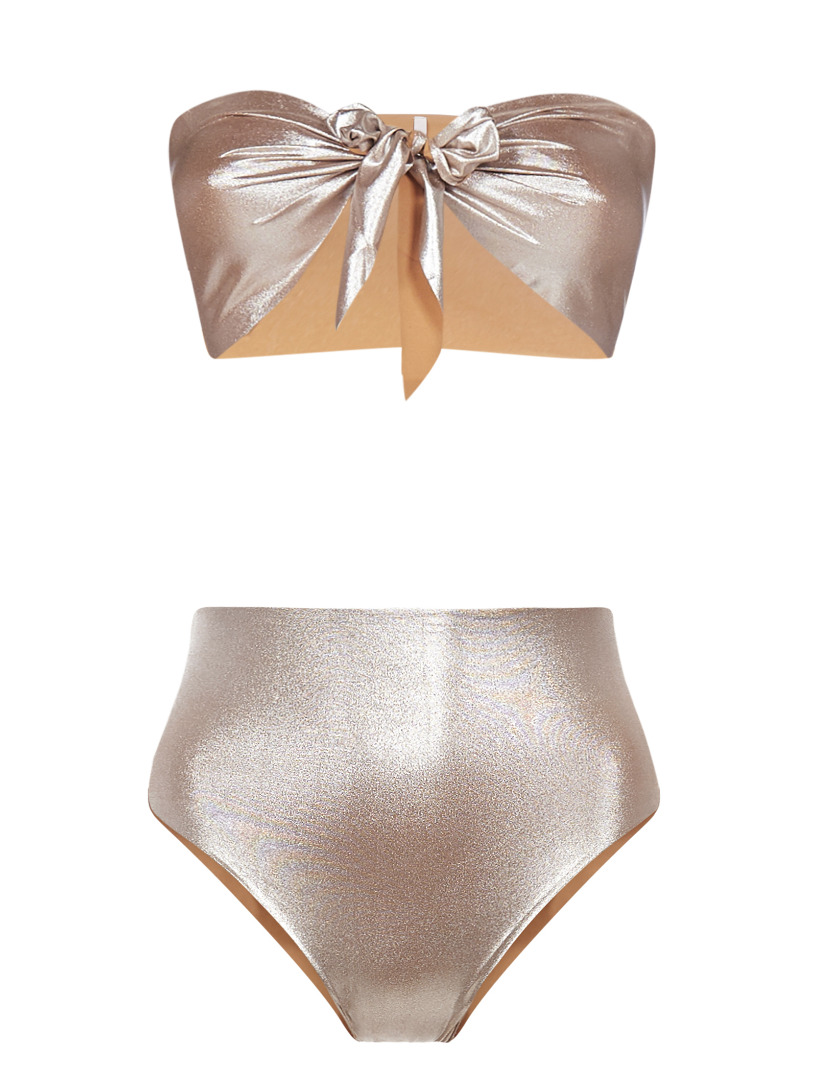 Knotting Bay Bandeau High Waisted in Platinum