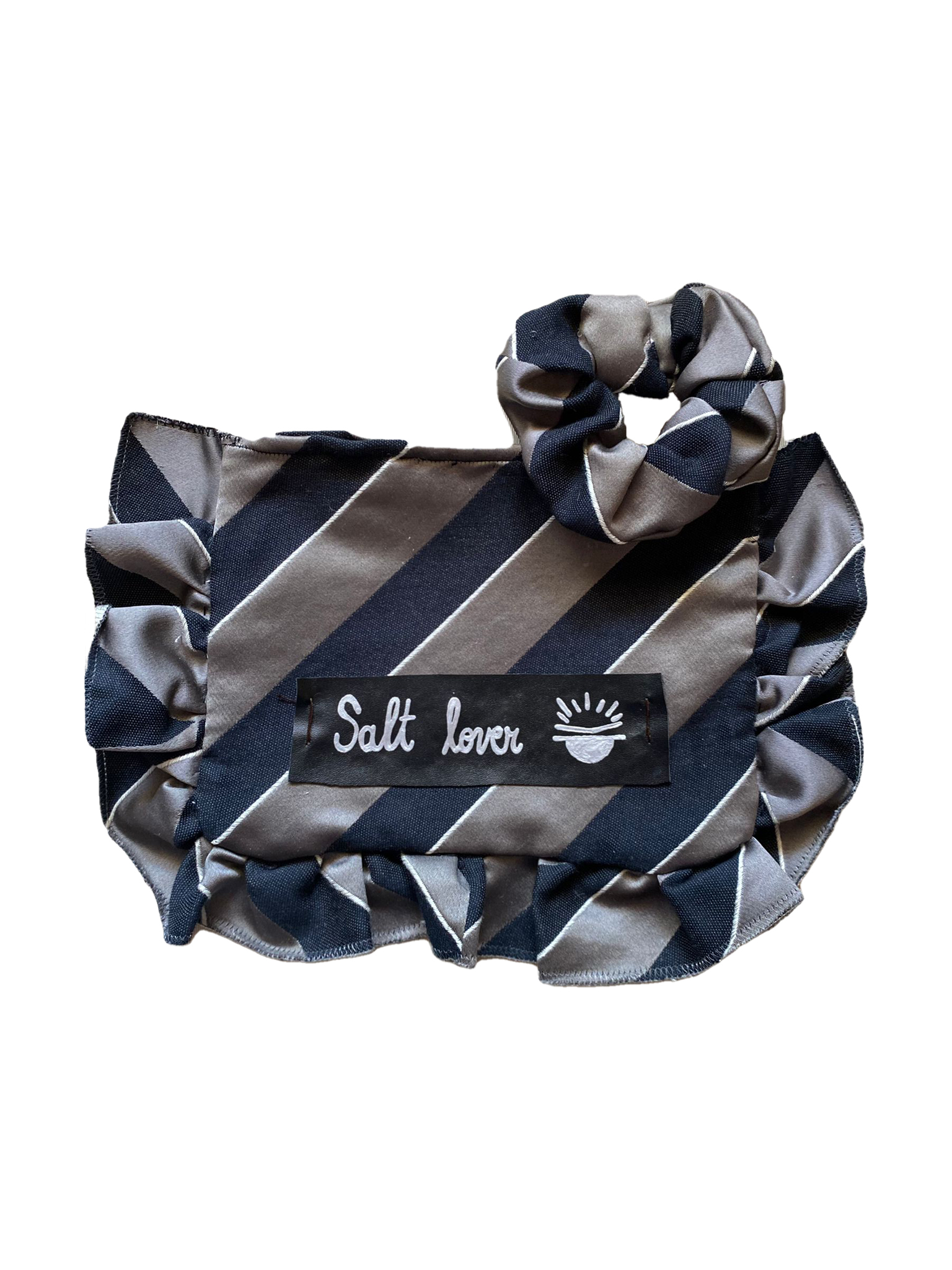 Pochette Media e Scrunchie – Salt Lover Stripes