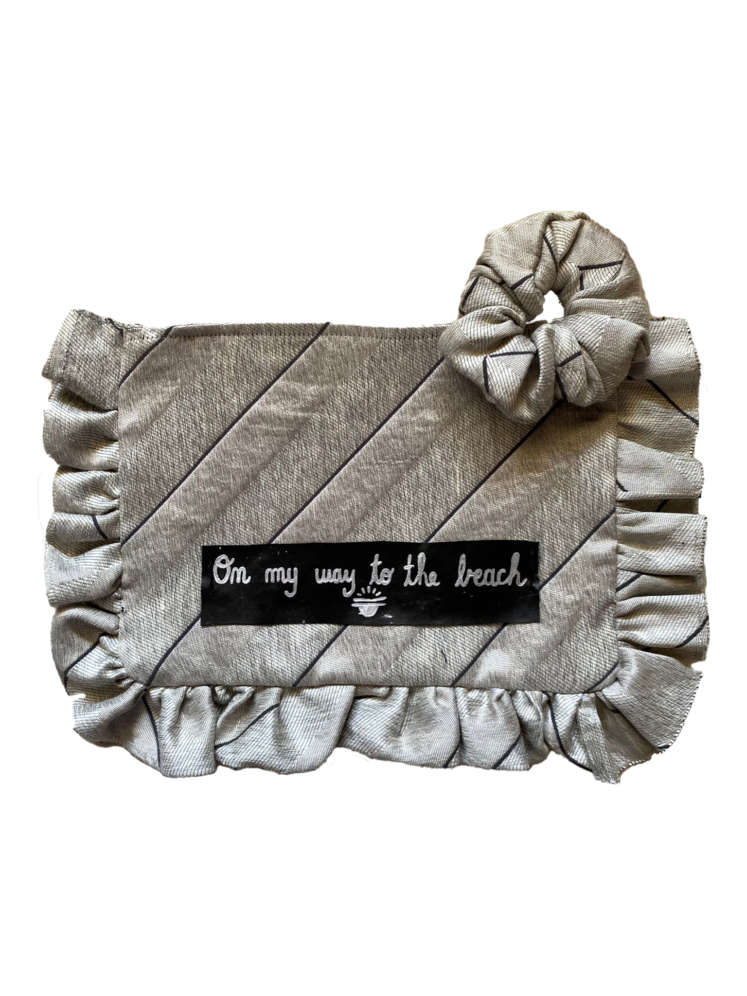Pochette Grande e Scrunchie – On my way to the beach